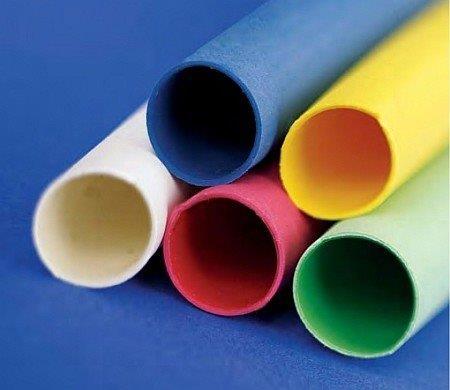 Tubo termo retrátil colorido